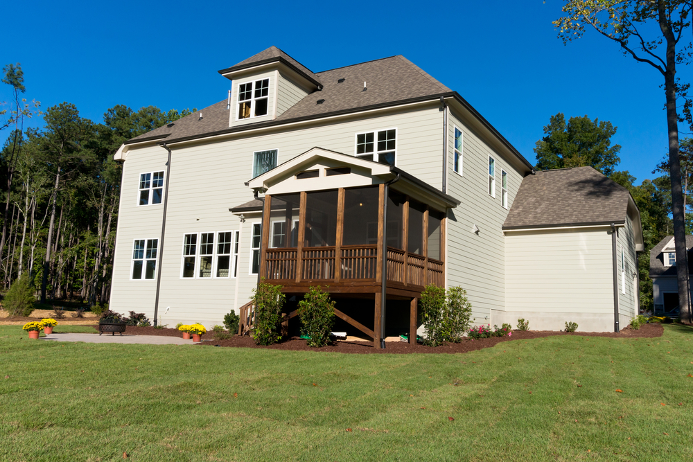 large house with screened porch