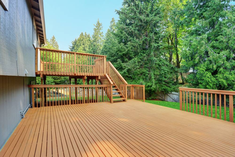 big wooden deck