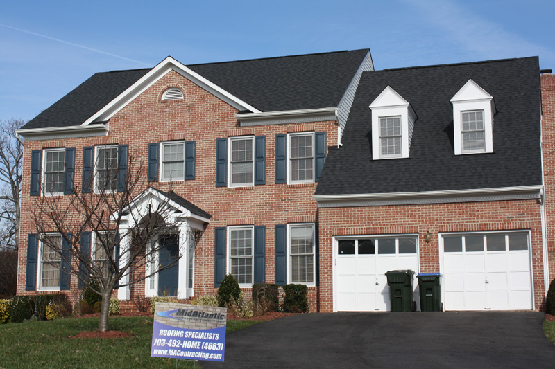 brick colonial roof replacement